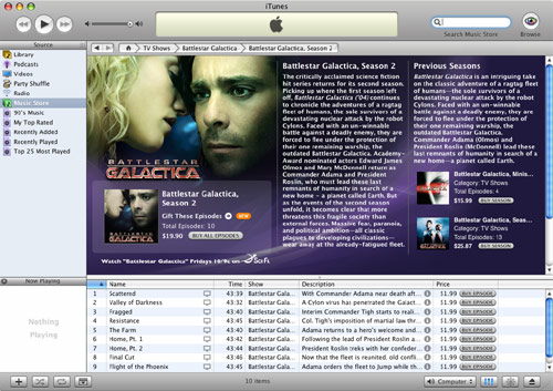 iTunes Music Store... now with BSG!